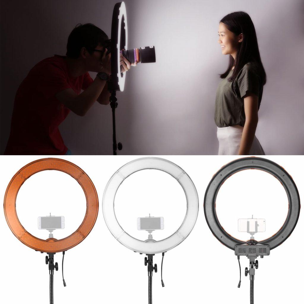 aro de luz led para fotografía