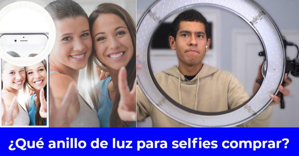 anillo de luz para selfies