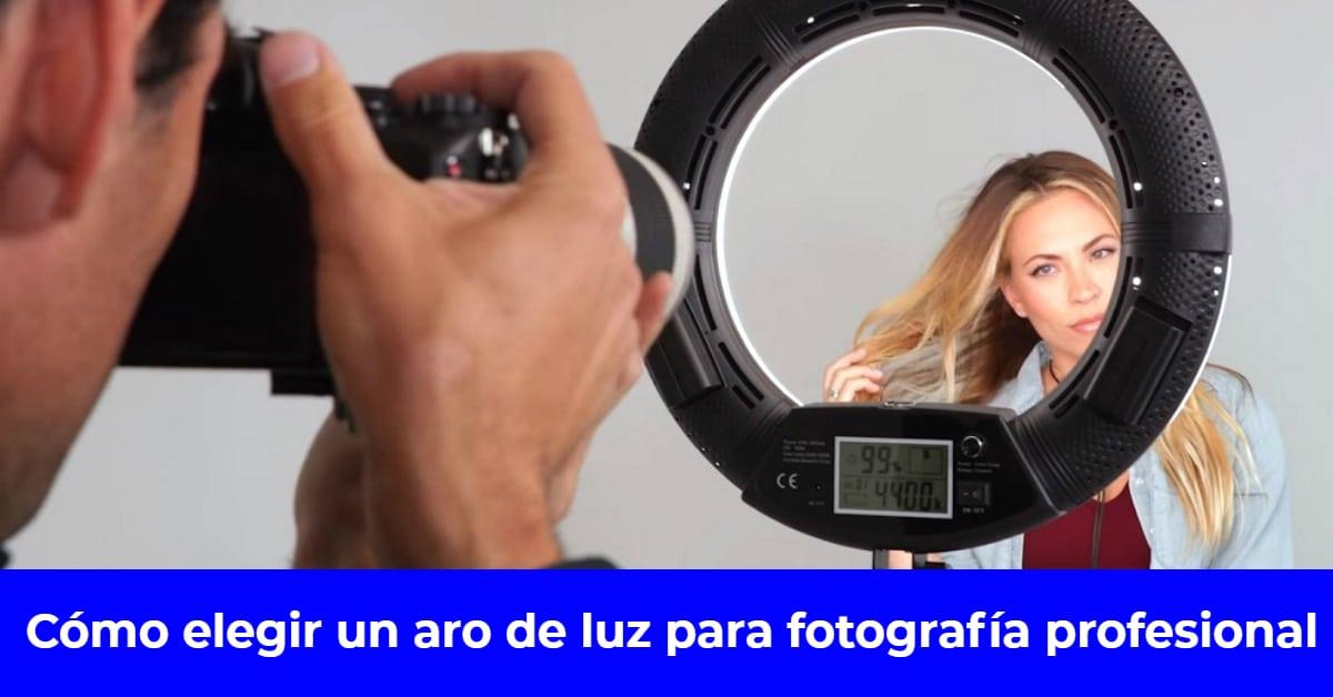 aro de luz para fotografía profesional