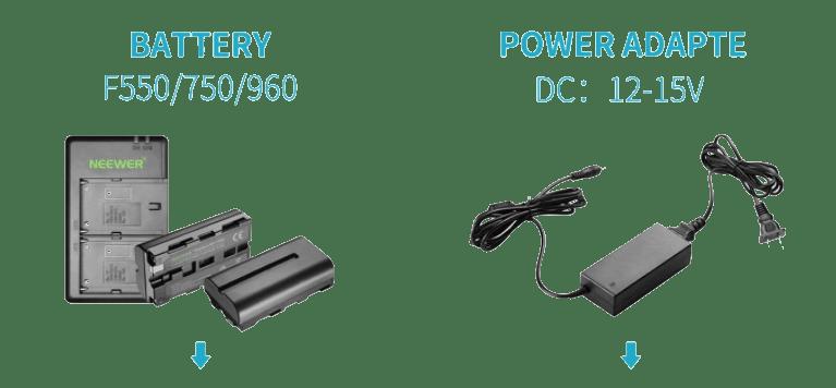 batería aro de luz neewer 53