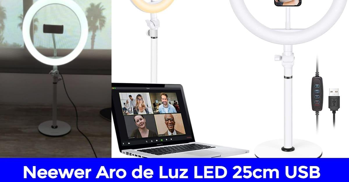 neewer aro de luz led 25cm usb